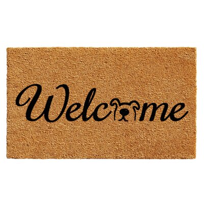 Horace Doggie Welcome Doormat Rug Size: Rectangle 2 x 3