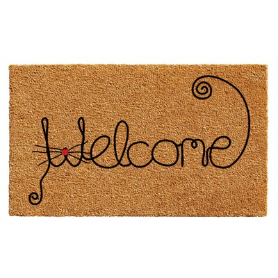 Redfern Kitty Curlicue Doormat Rug Size: 14 x 24
