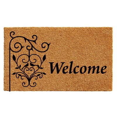 Warrenton Welcome Post Doormat Rug Size: 14 x 24