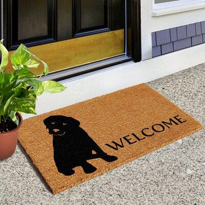 Lashley Labrador Doormat Rug Size: 14 x 24