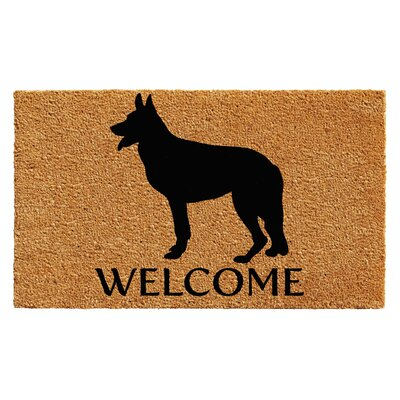 Regner German Shepherd Doormat Rug Size: 14 x 24