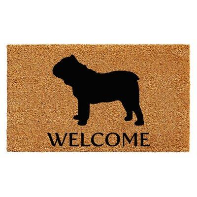 Reichman Bull Dog Doormat Rug Size: 2' x 3'