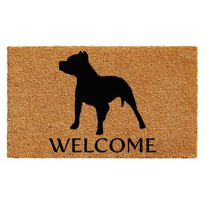 Reimer Pit Bull Doormat Rug Size: 14 x 24