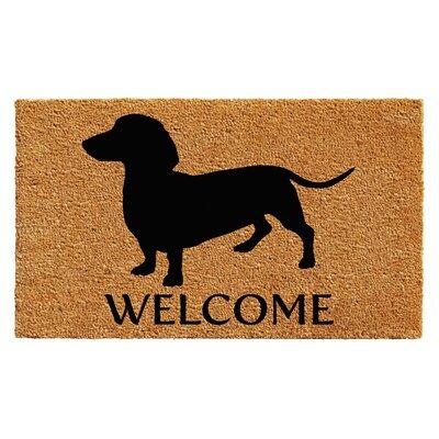 Rendova Dachshund Doormat Rug Size: 14 x 24