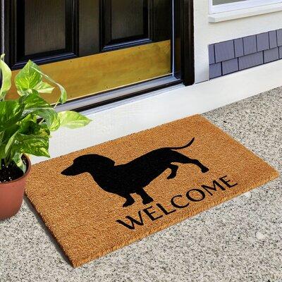 Larose Dachshund Doormat Rug Size: 14 x 24