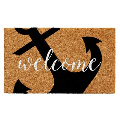 Danube Anchor Welcome Doormat Rug Size: 14 x 24