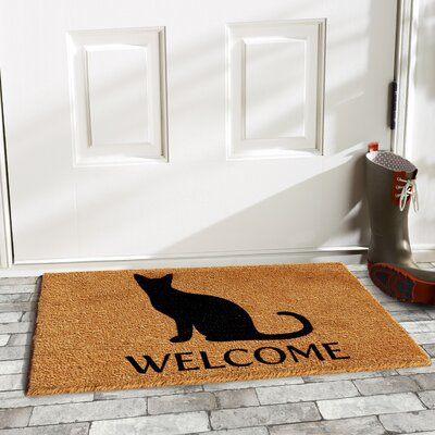 Matheney Cat Welcome Doormat
