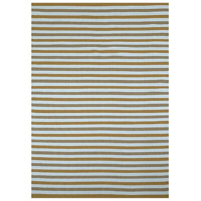 Beige Stripe Indoor/Outdoor Area Rug Rug Size: 5 x 8