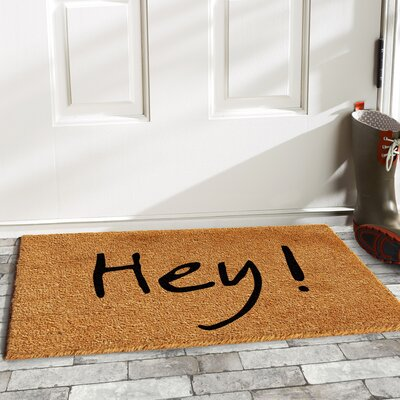 Langleyville Hey Doormat Color: Natural/Black