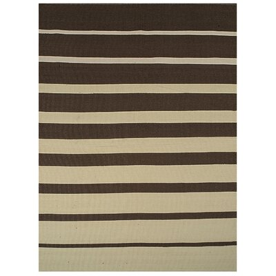 Brown Stripe Indoor/Outdoor Area Rug Rug Size: 5 x 8