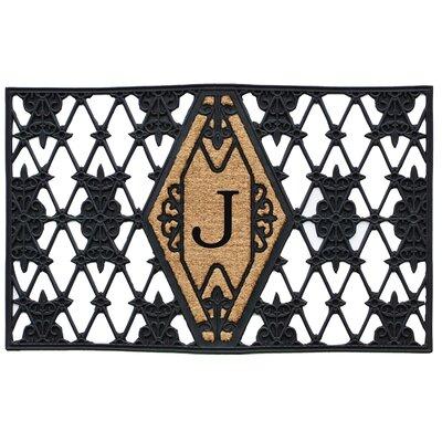 Monogram Doormat Letter: J