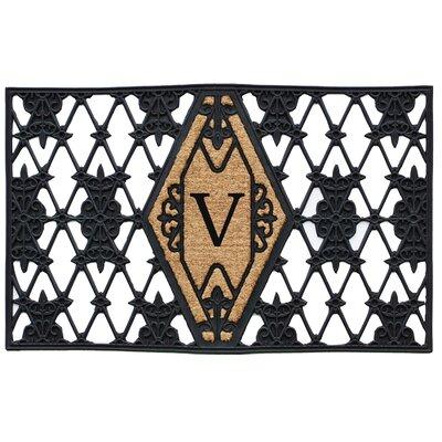 Monogram Doormat Letter: V