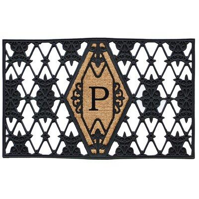Monogram Doormat Letter: P