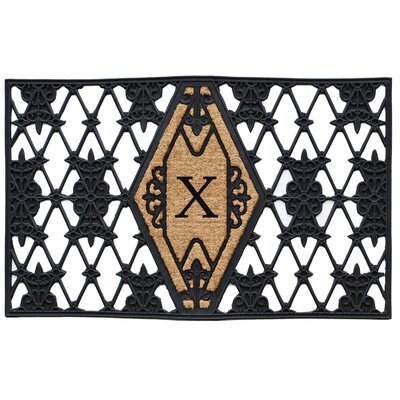 Monogram Doormat Letter: X