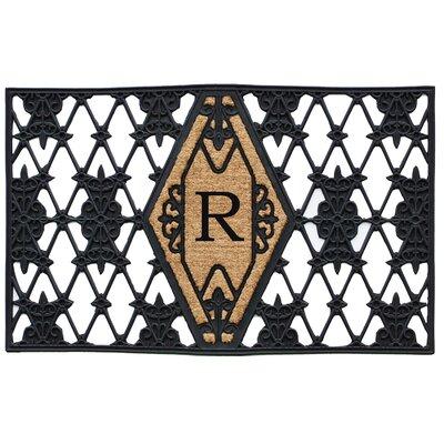 Monogram Doormat Letter: R