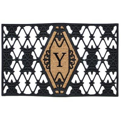 Monogram Doormat Letter: Y