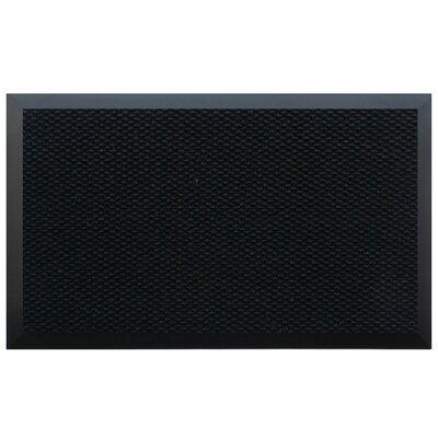 Home & More Solid Doormat - Color: Black, Rug Size: 72