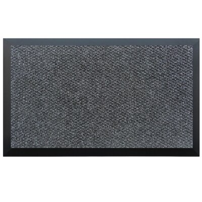 Home & More Solid Doormat - Color: Charcoal, Rug Size: 72