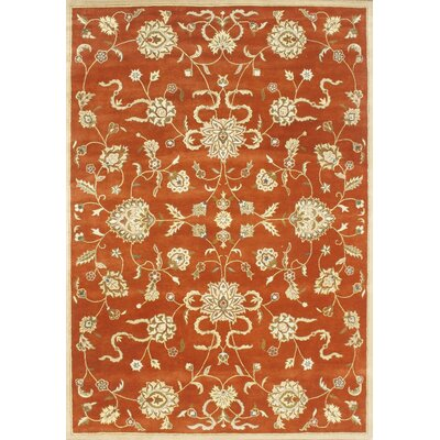 Alliyah Rusty Orange Area Rug Rug Size: 10 x 14