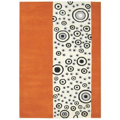 Alliyah Bubble Orange/Ivory Area Rug