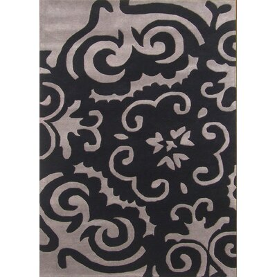 Alliyah Metro Medallion Black/Grey Area Rug