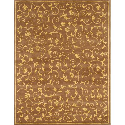 Alliyah Cazanova Vines Brown Area Rug
