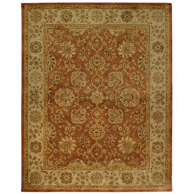Alliyah Rust Area Rug Rug Size: 9 x 12