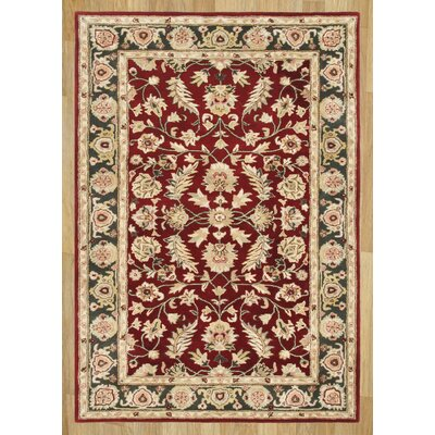 Alliyah Delhi Red Area Rug