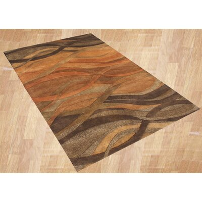 Alliyah Abstract Brown/Tan Area Rug Rug Size: Rectangle 5 x 8