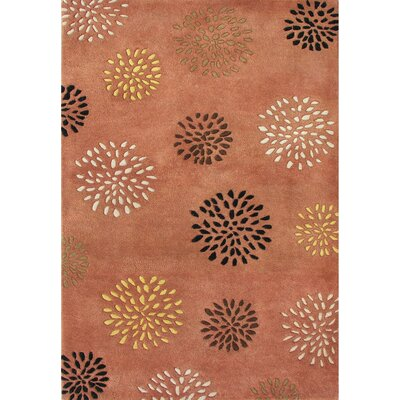 Alliyah Rust Flower Area Rug