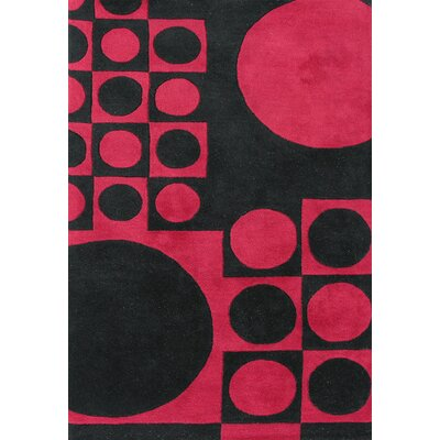 Alliyah Black/ Red Area Rug