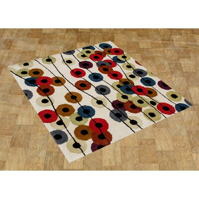 Alliyah Cream Area Rug Rug Size: Square 6