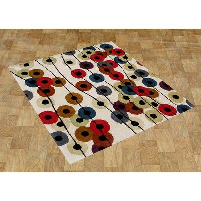 Alliyah Cream Area Rug Rug Size: Square 6