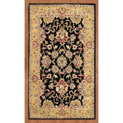 Alliyah Delhi Black Area Rug Rug Size: 6 x 9