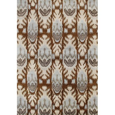 Alliyah Sugar Brown Ikat Area Rug