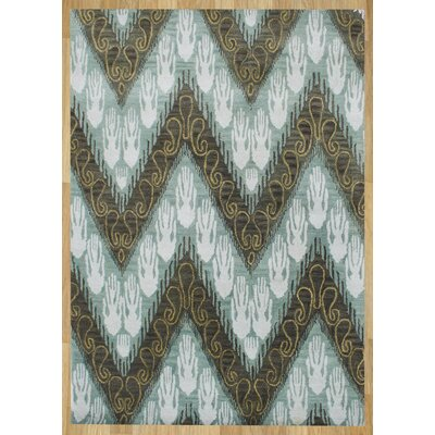 Alliyah Forest Green Ikat Area Rug Rug Size: 5 x 8