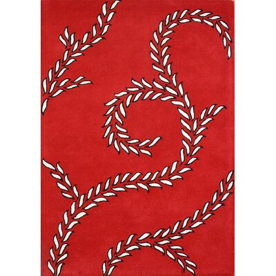 Alliyah Sabrina Red Area Rug Rug Size: 5' x 8'
