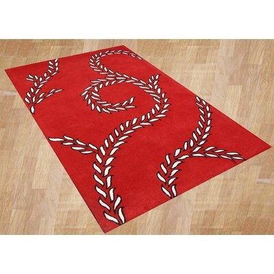 Alliyah Sabrina Red Area Rug Rug Size: 8' x 10'