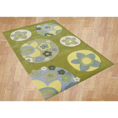 Alliyah Flower Green Area Rug