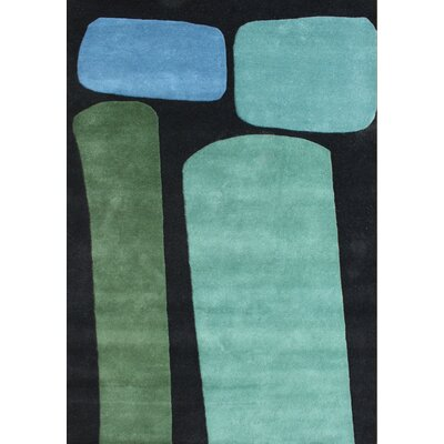 Alliyah Jet Black Area Rug Rug Size: 5 x 8