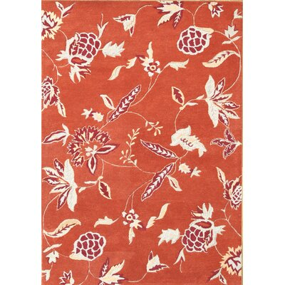Alliyah Hi-N-Low Texture Rust Area Rug