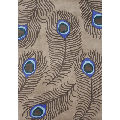 Alliyah Peacock Tannin Area Rug Rug Size: 5 x 8
