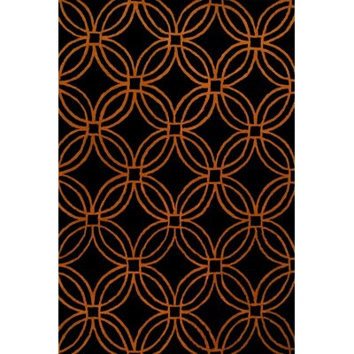Alliyah Black/Orange Area Rug Rug Size: 8 x 10