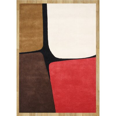 Alliyah Leather Brown Area Rug Rug Size: 5 x 8