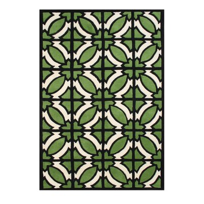 Alliyah Jet Green Area Rug