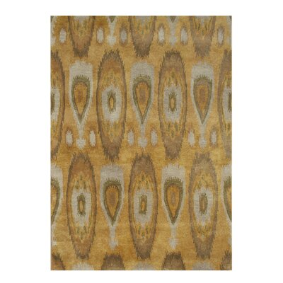 Alliyah Tobacco Brown Ikat Area Rug Rug Size: 8 x 10