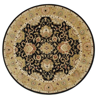Alliyah Delhi Black Area Rug Rug Size: Round 10