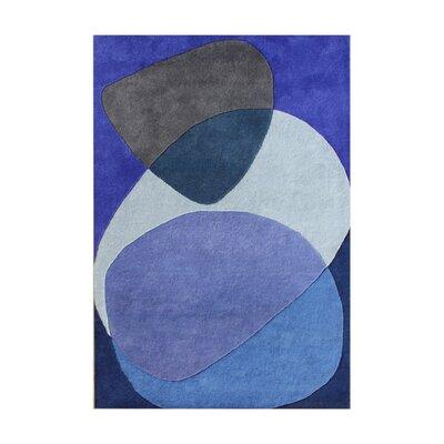 Alliyah Dazzling Blue Area Rug Rug Size: 9 x 12