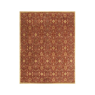 Alliyah Burgundy Area Rug Rug Size: 6 x 9