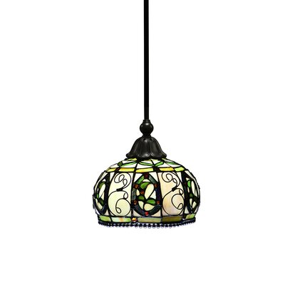 Broad Brook Tiffany-Style Piped 1-Light Mini Pendant